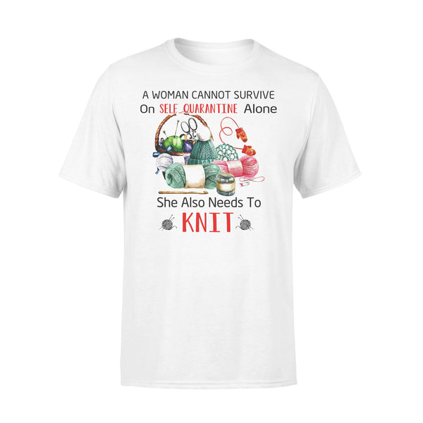 A Woman Cannot Survive Knitt T-shirt L By AllezyShirt