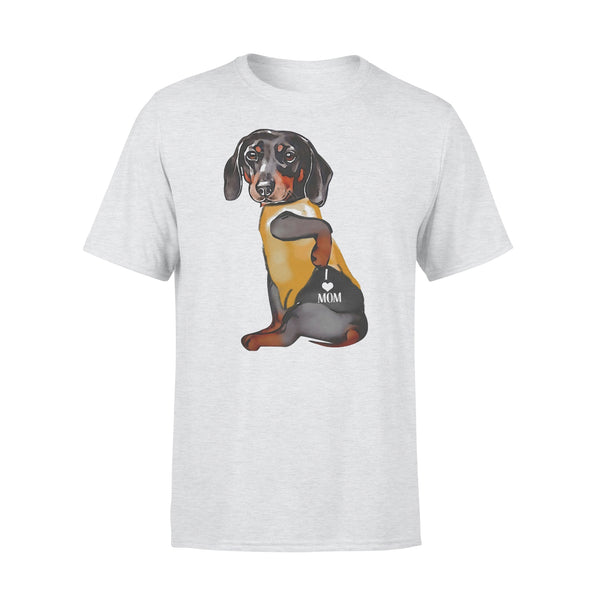 Dachshund Tattoos I Love Mom Heart Shirt XL By AllezyShirt