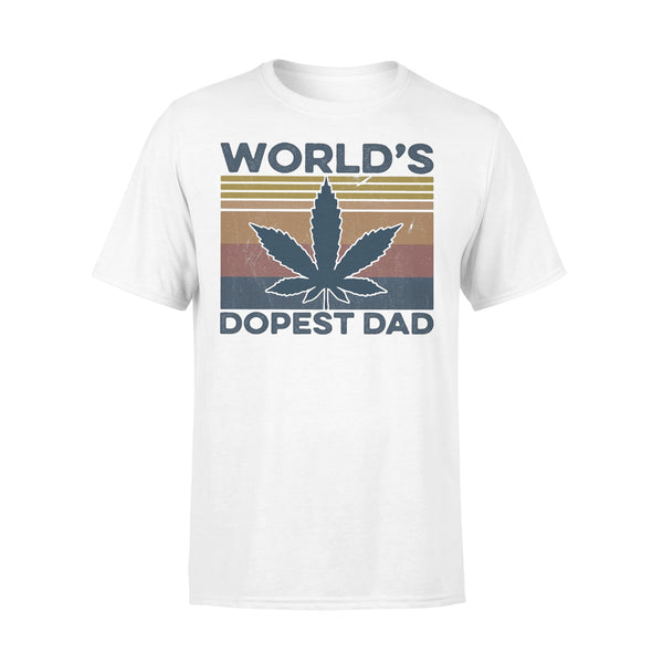 Weed World'S Dopest Dad Vintage T-shirt L By AllezyShirt