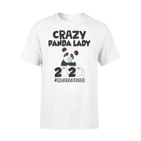 Crazy Panda Lady 2020 Quarantined Toilet Paper Mask Covid-19 T-shirt L By AllezyShirt