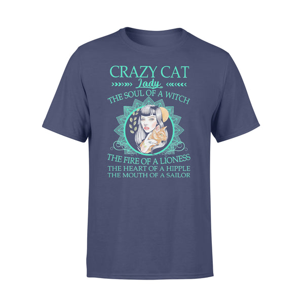 Crazy Cat Lady The Soul Of A Witch The Fire Of A Lioness T-shirt XL By AllezyShirt