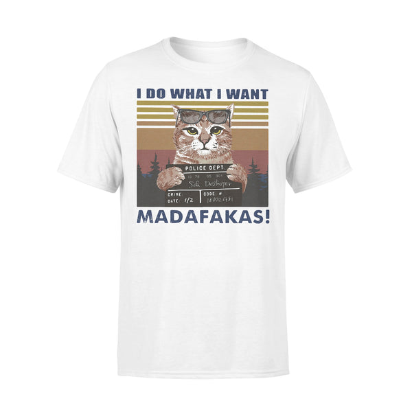 Cat I Do What I Want Madafakas Vintage Retro T-shirt L By AllezyShirt