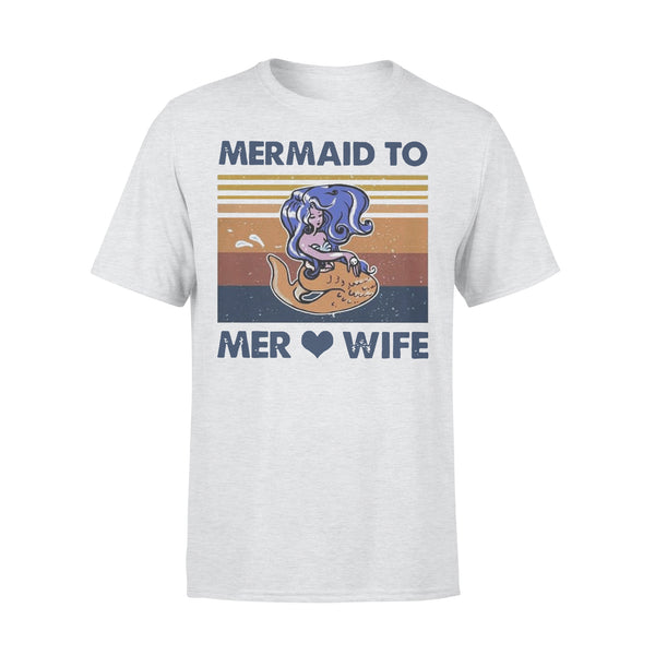 Mermaid To Mer Love Wife Vintage T-shirt XL By AllezyShirt