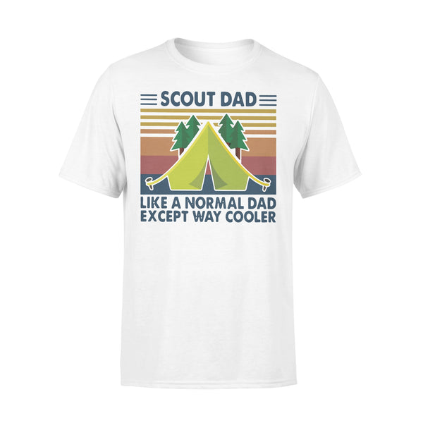 Scout Dad Like A Normal Dad Except Way Cooler Vintage T-shirt L By AllezyShirt