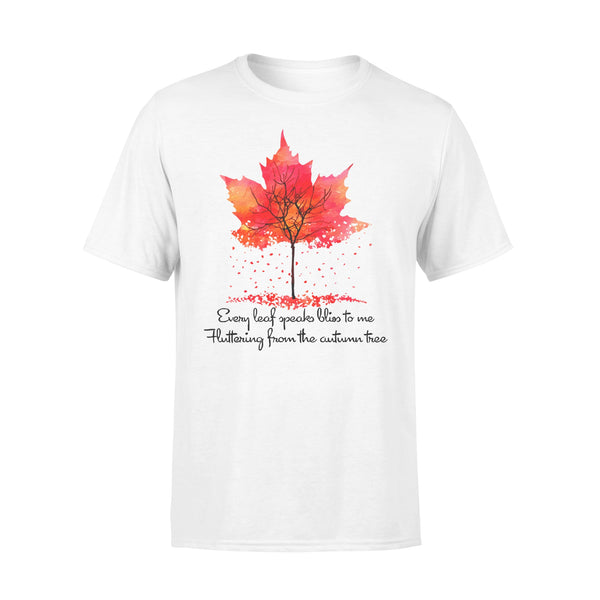 Every Leaf Speaks Bliss To Me Flittering From The Autumn Tree Fall T-shirt L By AllezyShirt