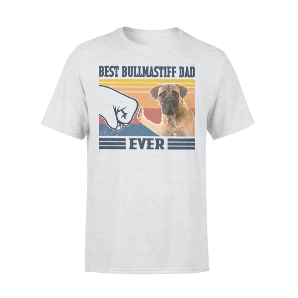 Father's Day Best Bullmastiff Dad Ever Vintage T-shirt XL By AllezyShirt