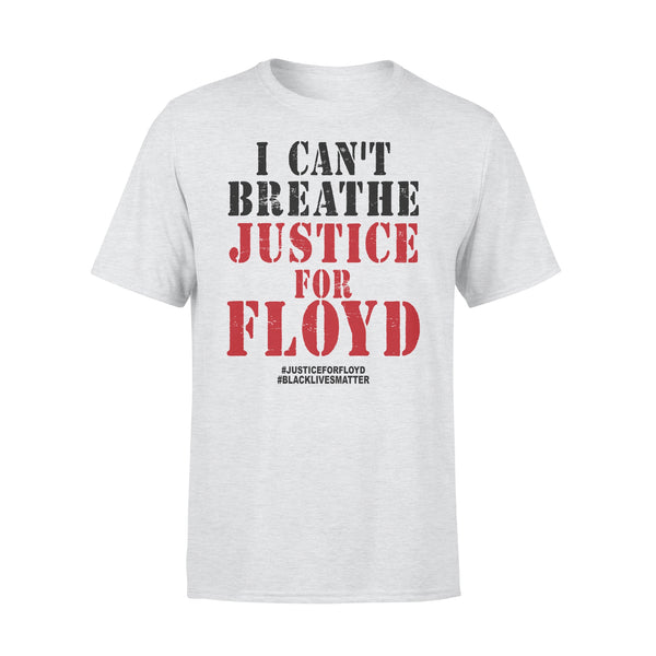 I Cant Breath George Floyd Justice For Floyd Black Lives Matter T-shirt XL By AllezyShirt