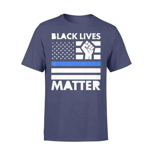 Black Lives Matters Blue Thin Line American Flag T-shirt XL By AllezyShirt