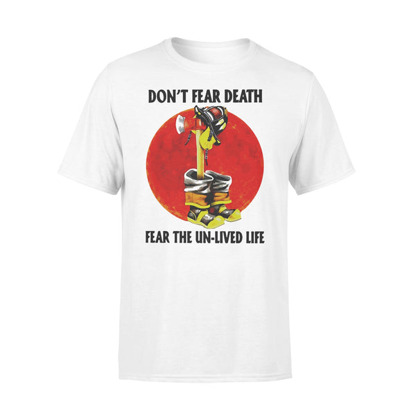 Firefighter Don't Fear Death Fear The Un-lived Life Blood Moon T-shirt L By AllezyShirt