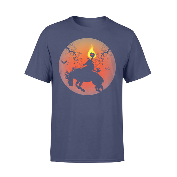 Headless Horseman Silhouette Halloween T-shirt XL By AllezyShirt