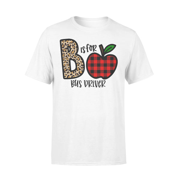 B Is For Bus Driver Apple Buffalo Plaid T-shirt L By AllezyShirt