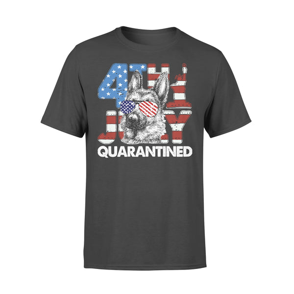 German Shepherd 4Th Of July Merica Quarantined Gifts Funny T-shirt L By AllezyShirt
