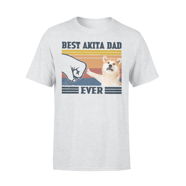Father's Day Best Akita Dad Ever Vintage Fathers Day T-shirt XL By AllezyShirt
