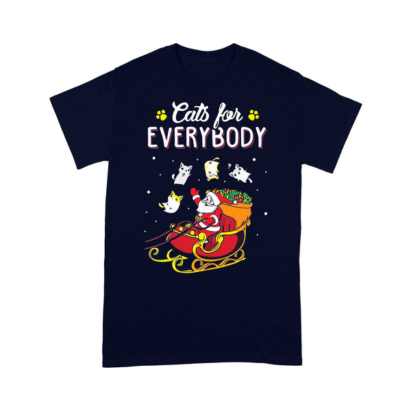 Santa Cats For Everybody Christmas T-shirt M By AllezyShirt
