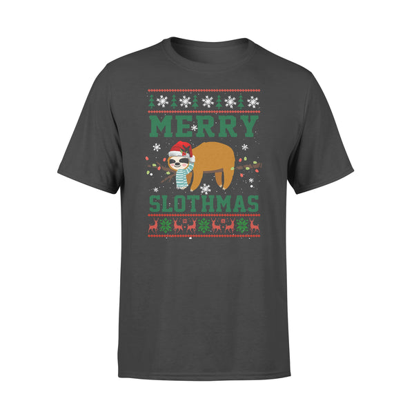 Sloth Merry Christmas Slothmas T-shirt L By AllezyShirt