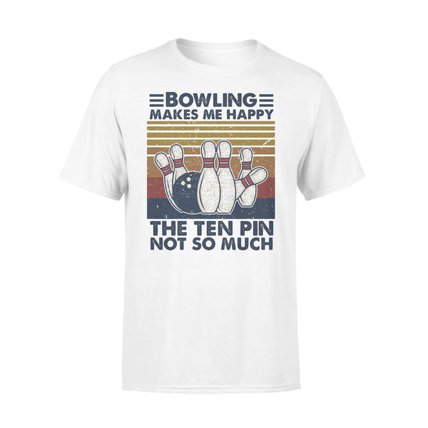 Bowling Makes Me Happy The Ten Pin Not So Much Vintage T-shirt L By AllezyShirt