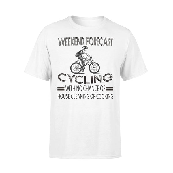 Weekend Forecast Cycling With No Chance Of House Cleaning Or Cooking Classic T-shirt L By AllezyShirt