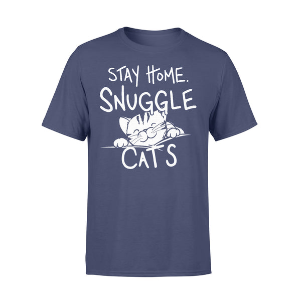 Stay Home & Snuggle Cats T-shirt XL By AllezyShirt