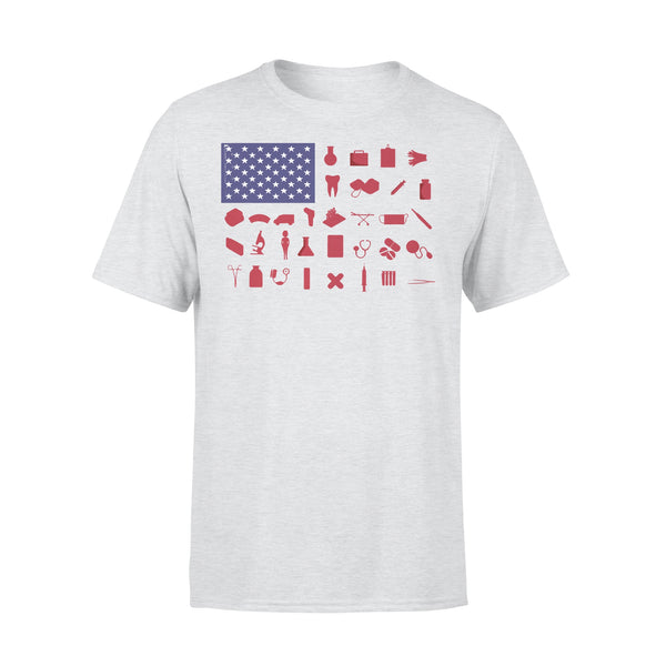 Nurse Independence Day American Flag T-shirt XL By AllezyShirt