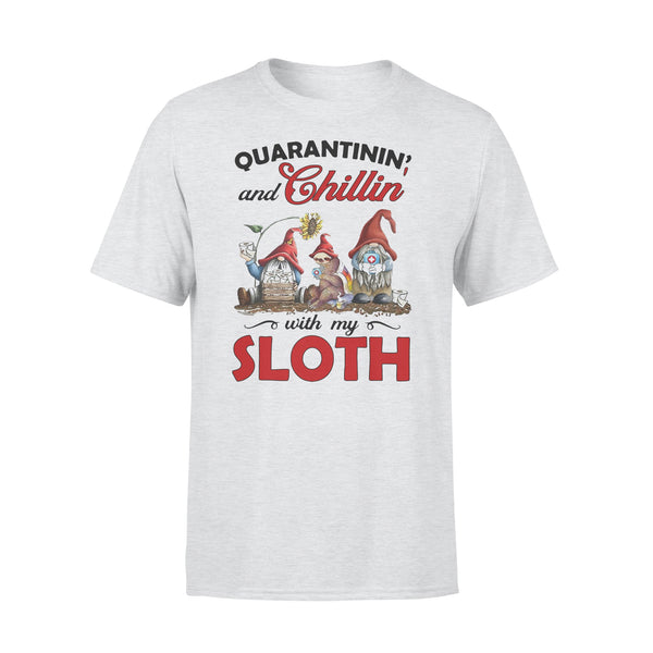 Quarantinin' And Chillin' With My Sloth T-Shirt XL By AllezyShirt