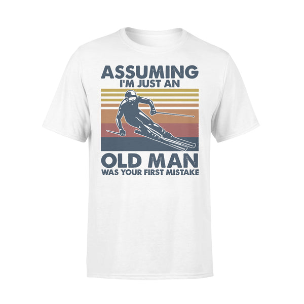 Skiing Assuming I'm Just An Old Man Was Your First Mistake Vintage T-shirt L By AllezyShirt