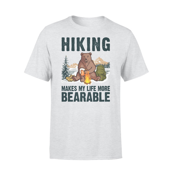 Hiking Makes My Life More Bearable Sarcasm Beer T-shirt XL By AllezyShirt