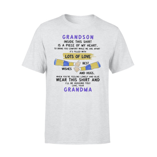 Grandson Inside This Is A Piece Of My Heart Lots Of Loves Wishes Best And Hugs Wear This And Grandma T-shirt XL By AllezyShirt