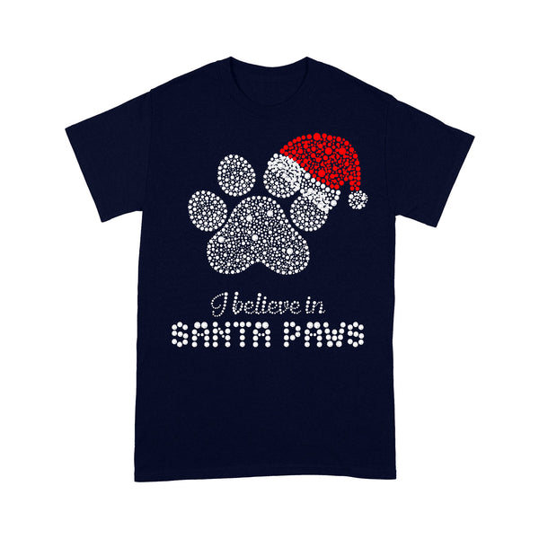 Christmas Santa Dog Paw Diamond T-shirt M By AllezyShirt