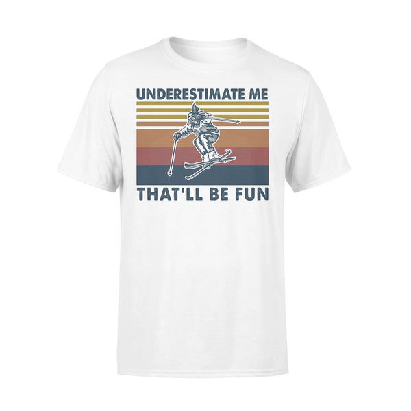 Snowboarding Underestimate Me That'll Be Fun Vintage T-shirt L By AllezyShirt