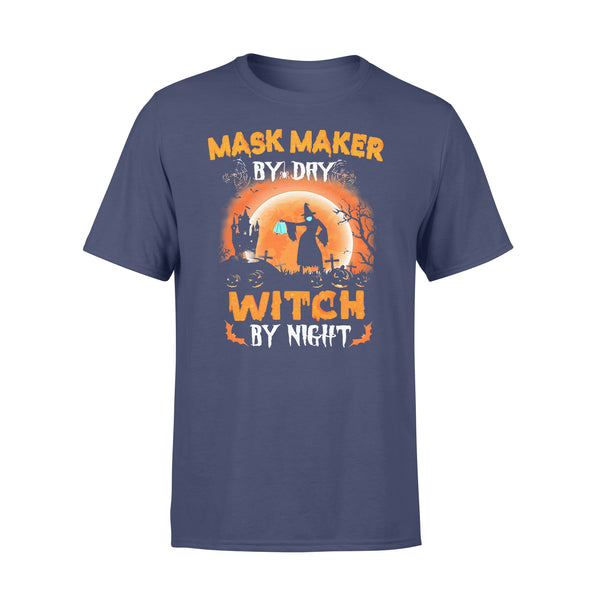 Maks Maker By Day Witch By Night Halloween Blood Moon T-shirt XL By AllezyShirt