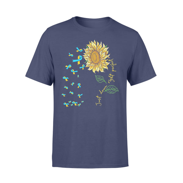 Just Down Right Perfect Spina Bifida Awareness Sunflower T-shirt XL By AllezyShirt