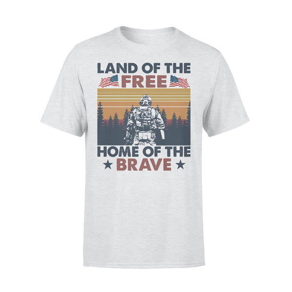 Land Of The Free Home Of The Brave Vintage T-shirt XL By AllezyShirt