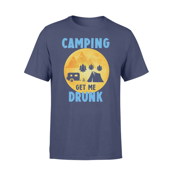 Camping Get Me Drunk Funny Camper T-shirt XL By AllezyShirt