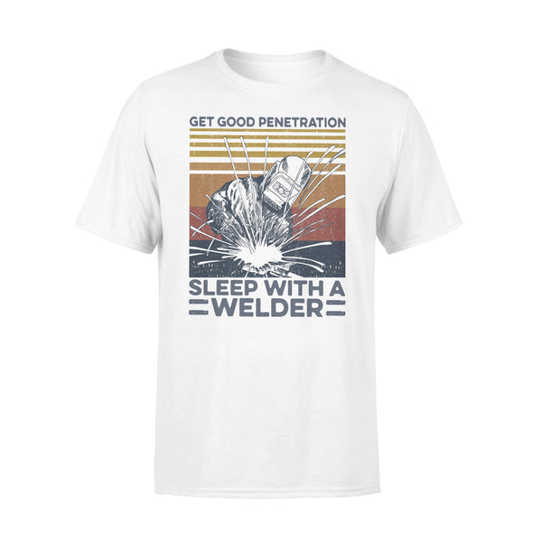 Get Good Penetration Sleep With A Welder Vintage T-shirt L By AllezyShirt