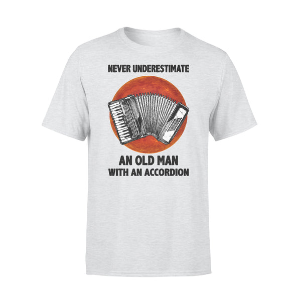 Never Underestimate An Old Man With A Accordion Blood Moon T-shirt XL By AllezyShirt