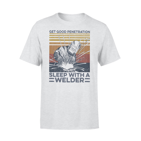 Get Good Penetration Sleep With A Welder Vintage T-shirt XL By AllezyShirt