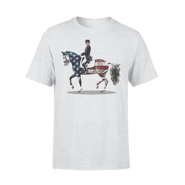 American Flag Dressage Horse T-shirt XL By AllezyShirt