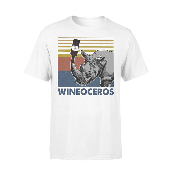 Wineoceros Wine Rhino Vintage T-shirt L By AllezyShirt
