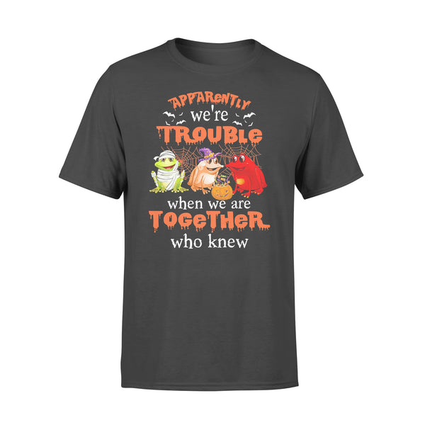 Frog Halloween Apparently We're Trouble When We Are Together T-shirt L By AllezyShirt