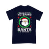 Be Nice To The Veteran Santa Is Watching Ugly Christmas T-shirt M By AllezyShirt