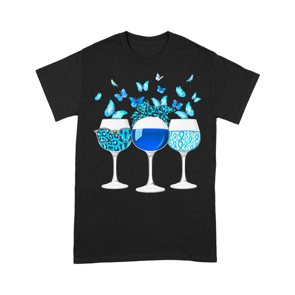 Blue Wine Butterfly T-shirt L By AllezyShirt