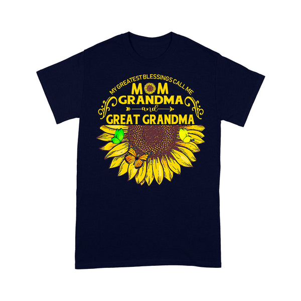 Sunflower My Greatest Blessings Call Me Mom Grandma And Great Grandma T-shirt M By AllezyShirt