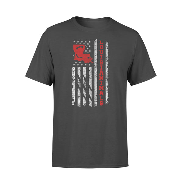 Louisianimal Xxl New Orleans Louisiana American Flag Animal Shirt L By AllezyShirt