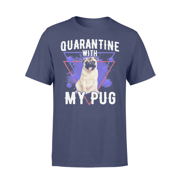 Quarantine With My Pug Coronavirus T-shirt XL By AllezyShirt