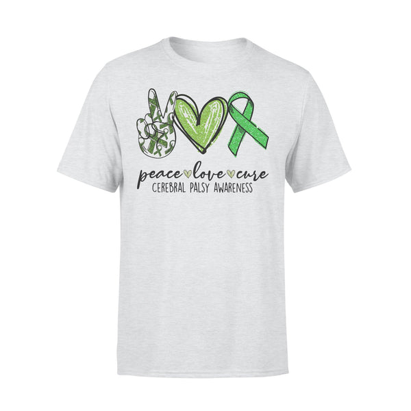 Peace Love Cure Cerebral Palsy Awareness Shirt XL By AllezyShirt
