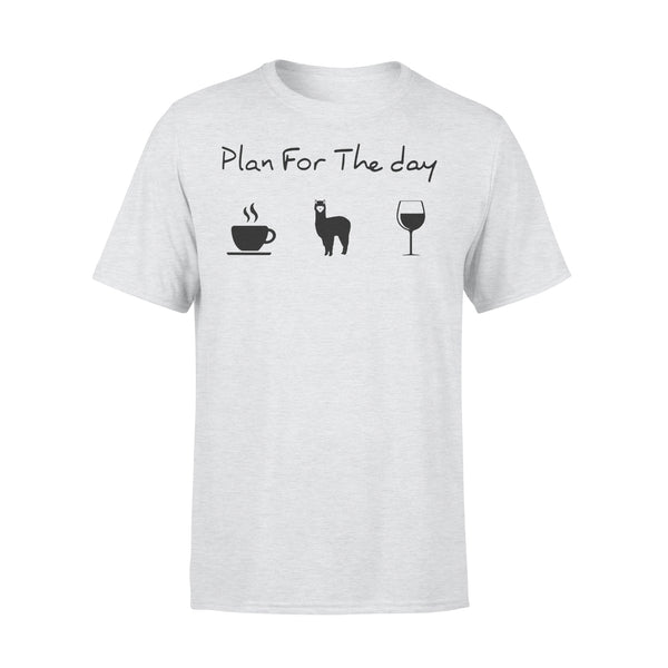 Plan For The Day Love Coffee Camel And Wine Shirt XL By AllezyShirt