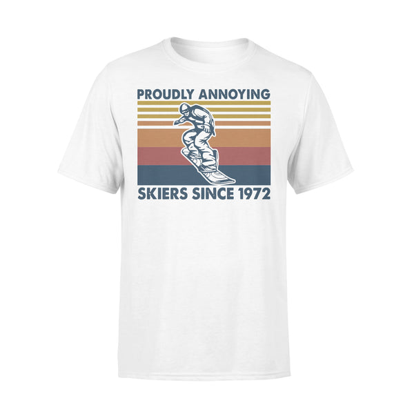 Proudly Annoying Skiers Since 1972 Skiing Vintage Retro T-shirt L By AllezyShirt