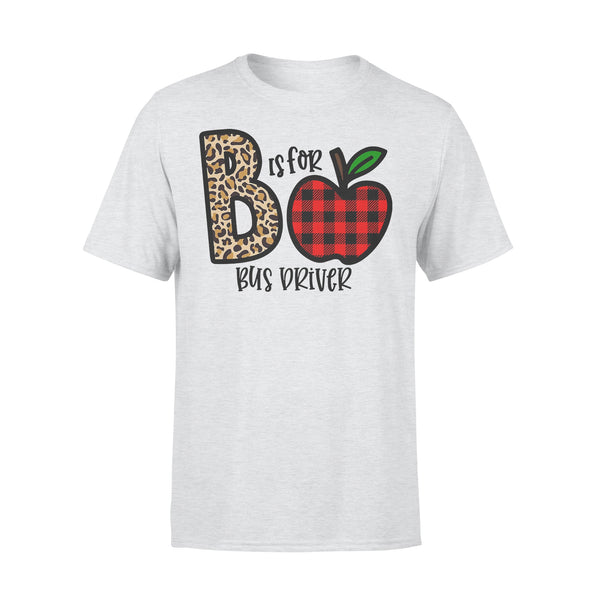 B Is For Bus Driver Apple Buffalo Plaid T-shirt XL By AllezyShirt
