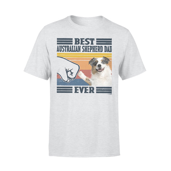 Father's Day Best Australian Shepherd Dad Ever Vintage T-shirt XL By AllezyShirt