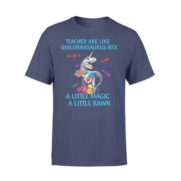 Dinosaur Teacher Are Like Unicornasaurus Rex A Little Magic A Little Rawr T-shirt XL By AllezyShirt